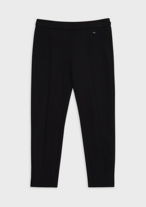 Slim-fit trousers with side zipper
