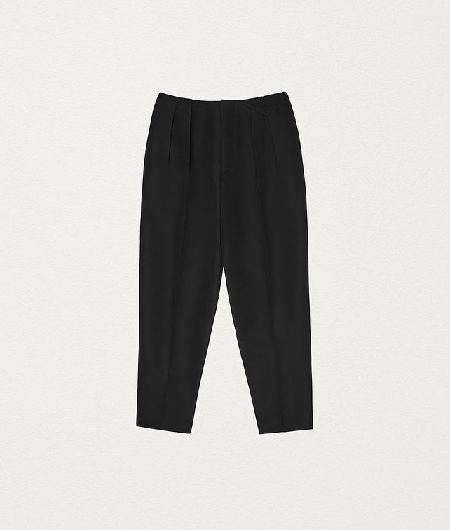 BOTTEGA VENETA TROUSERS IN INTRECCIATO WOOL Trousers and Shorts Woman fp