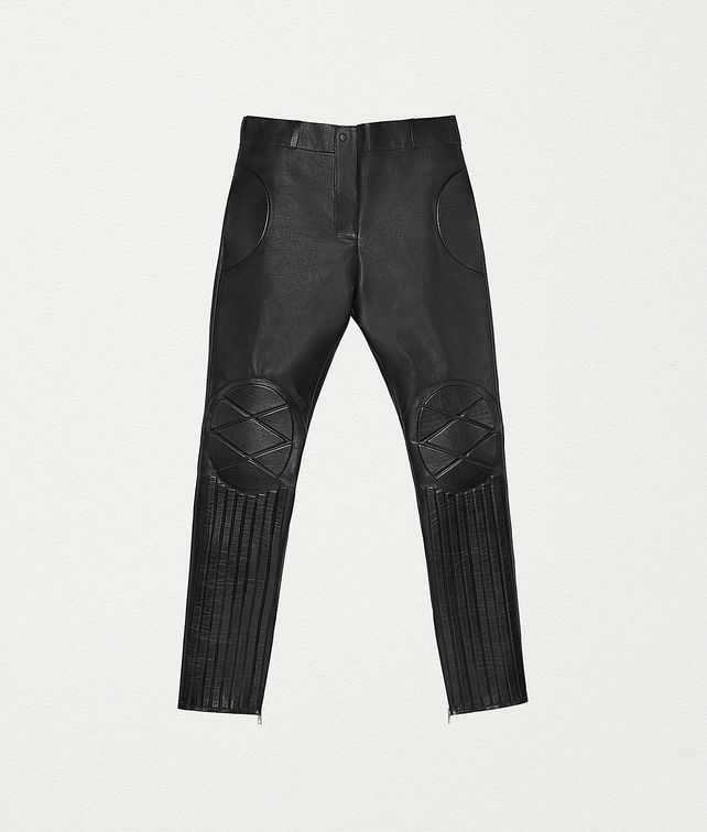 BOTTEGA VENETA TROUSERS IN POLISHED CALFSKIN Trousers and Shorts Woman fp