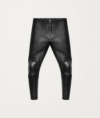 TROUSERS IN POLISHED CALFSKIN