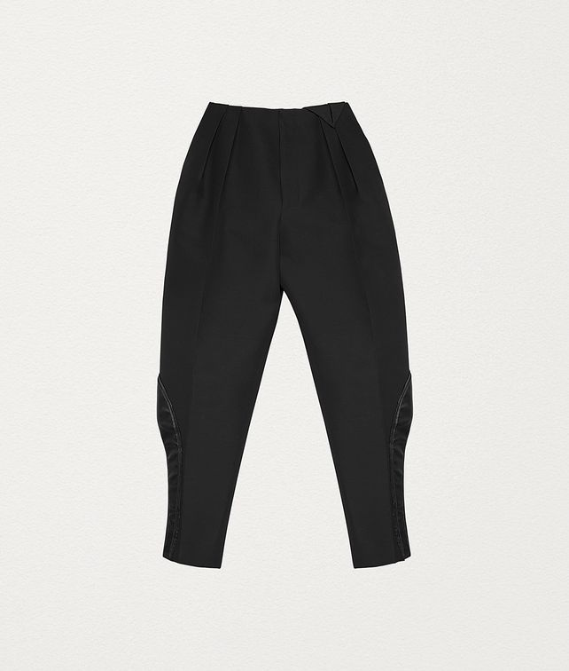 BOTTEGA VENETA PANTS IN INTRECCIATO WOOL Pants and Shorts Woman fp