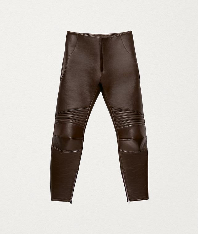 BOTTEGA VENETA TROUSERS IN POLISHED CALFSKIN Trousers and Shorts Man fp