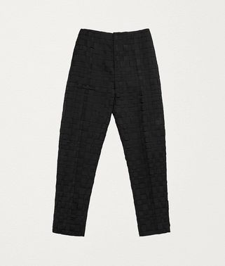 TROUSERS IN INTRECCIATO WOOL