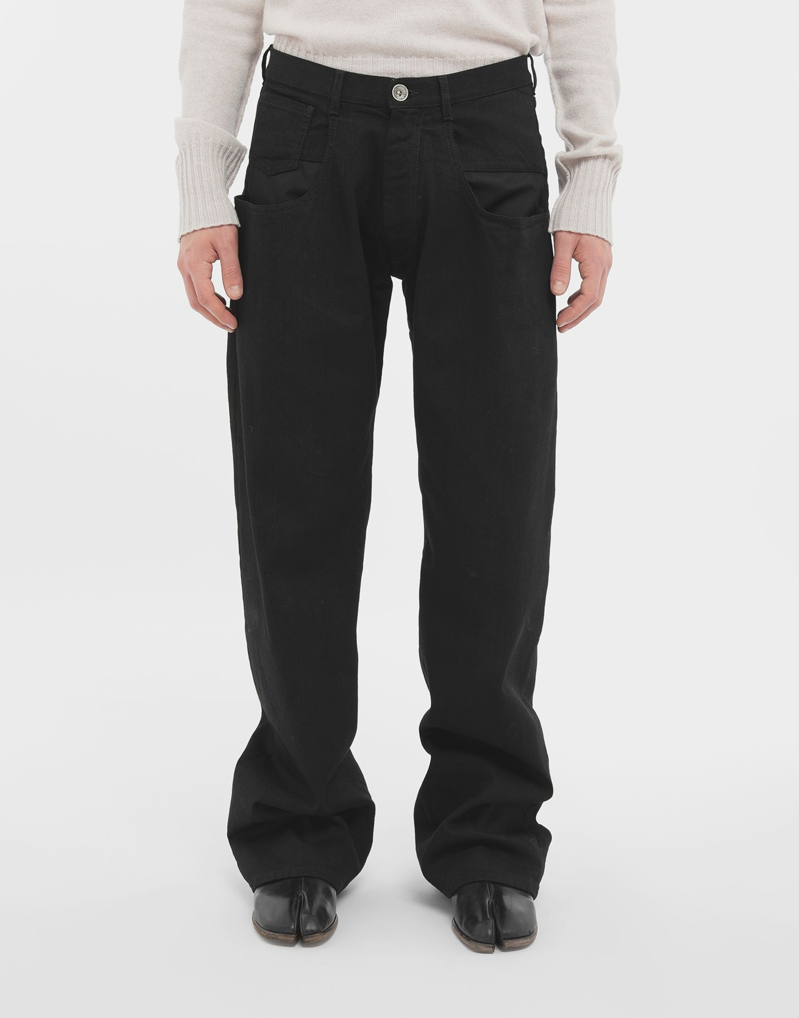 MAISON MARGIELA Джинсы в технике Décortiqué Джинсовые брюки Для Мужчин r