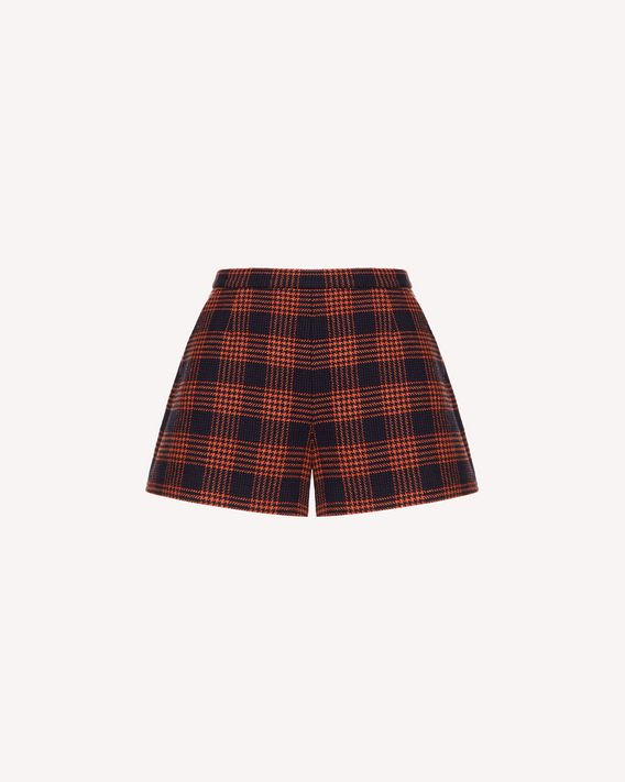 REDValentino Wool prince of wales shorts
