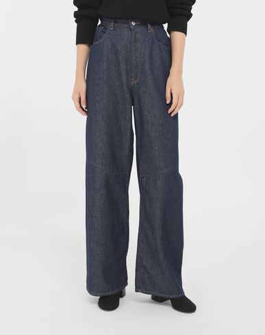 TROUSERS High-waisted multi-wear jeans Blue