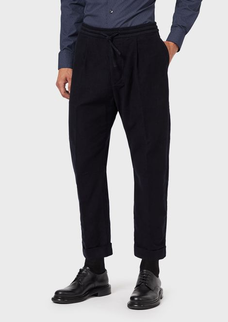 Moleskin jogging trousers