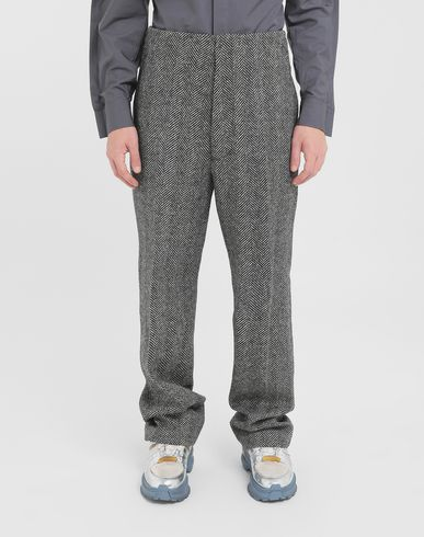 MAISON MARGIELA Trousers Man Scratch fastening herringbone trousers r