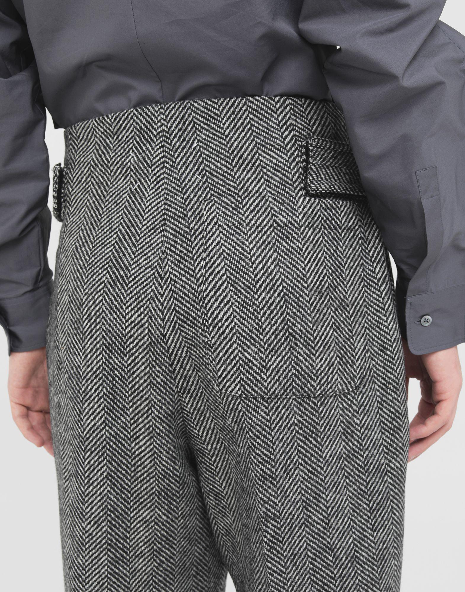 MAISON MARGIELA Scratch fastening herringbone trousers Trousers Man b