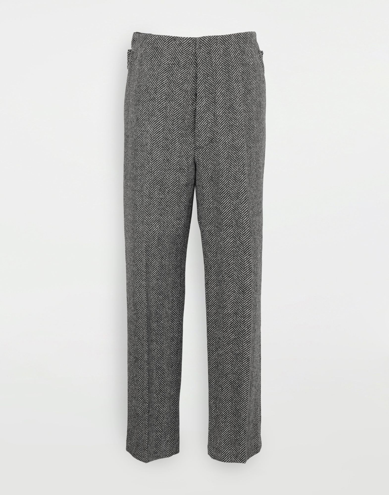 MAISON MARGIELA Scratch fastening herringbone trousers Casual pants Man f
