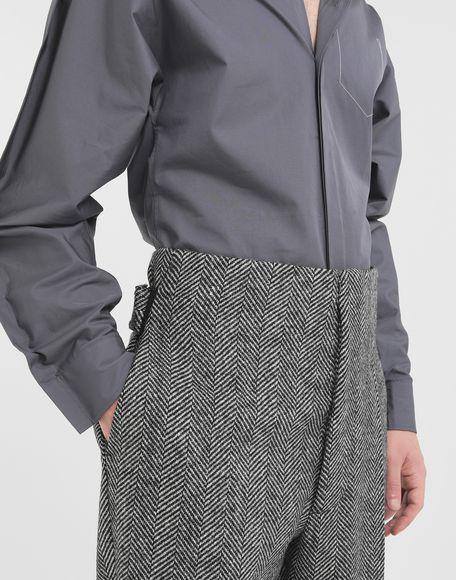 MAISON MARGIELA Scratch fastening herringbone trousers Trousers Man a