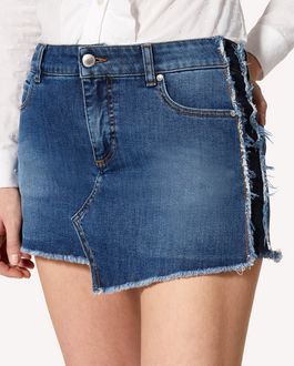 REDValentino Denim shorts with side bands