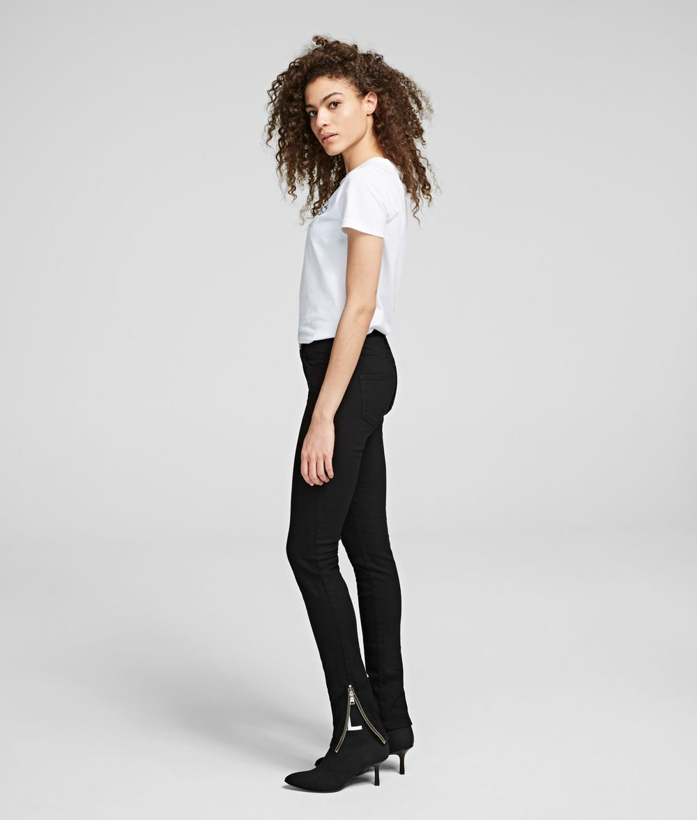 KARL LAGERFELD Skinny Jeans with Ankle Zips Pants Woman d