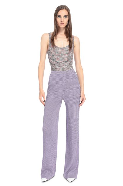 MISSONI Trouser Lilac Woman - Back