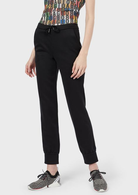 Trousers with elastic cuffs