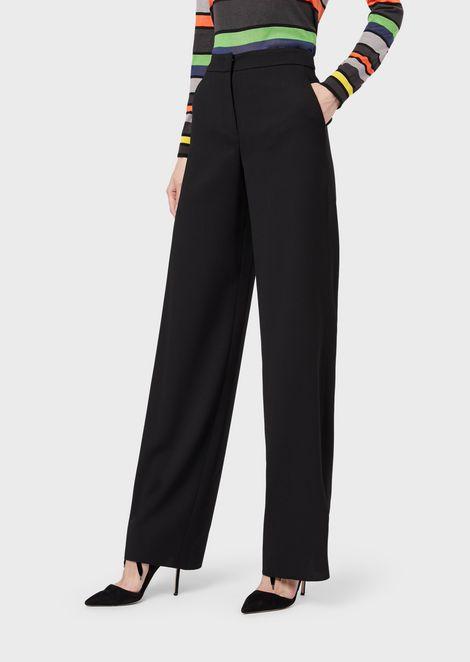 Loose-fit trousers in virgin wool