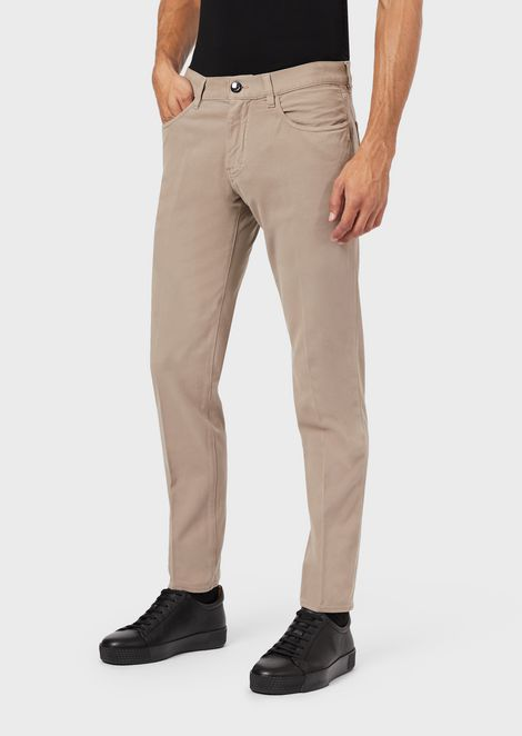 Slim-fit, tapered jeans in comfortable tricotine