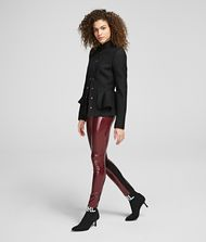KARL LAGERFELD Faux Patent-Leather Legggings 9_f