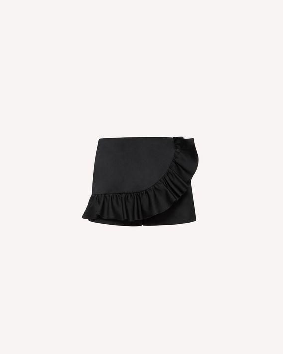 REDValentino 柔软公爵缎褶饰细节短裤