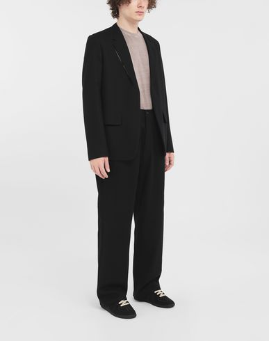 TROUSERS Flare wool trousers Black