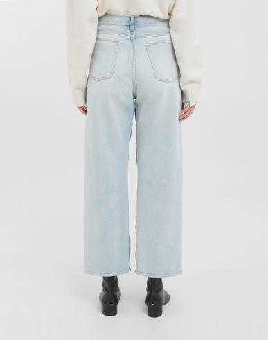 TROUSERS Spliced jeans Blue