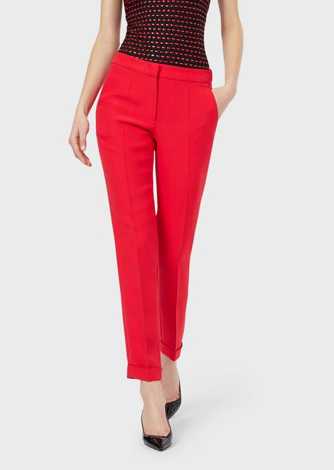 Cuffed cady trousers