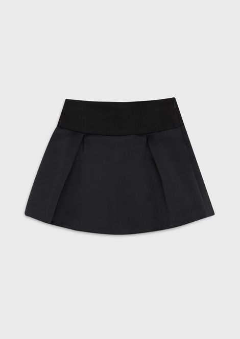 Skirt in wool blend gabardine