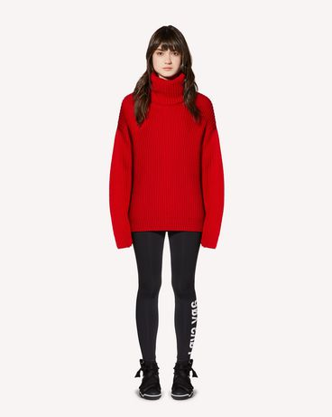 "REDValentino ""Love You"" printed  jersey leggings"