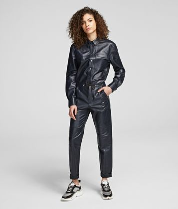 KARL LAGERFELD LEATHER CARGO TROUSERS