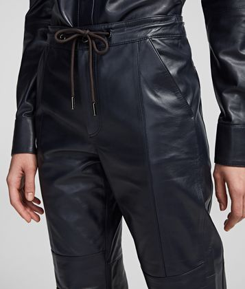 KARL LAGERFELD CARGO LEATHER PANTS