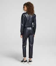 KARL LAGERFELD Cargo Leather Pants Pants Woman e