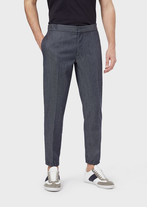 Chinos in virgin wool denim