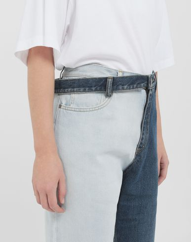 PANTS Side-belt jeans Blue