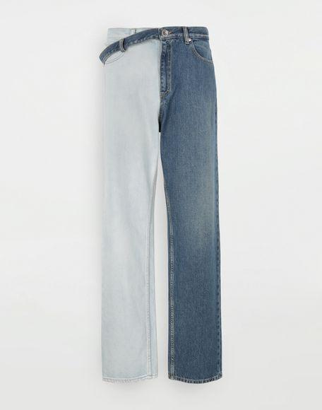 MAISON MARGIELA Jeans mit Seitenriemen Jeanshose Dame f