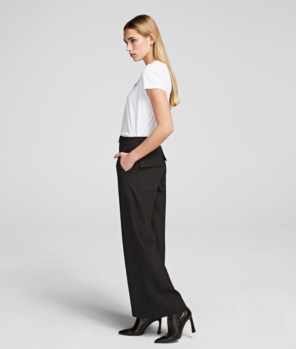 KARL LAGERFELD Piqué Culottes Pants Woman d