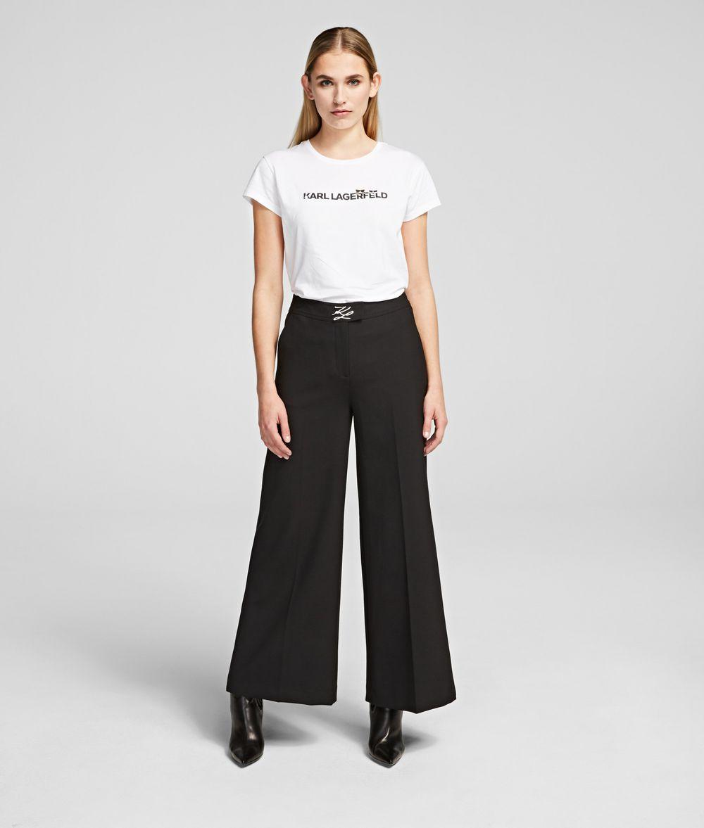 KARL LAGERFELD Piqué Culottes Pants Woman f