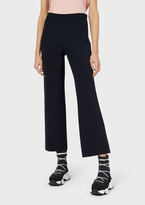 Straight-cut, ottoman-style jersey trousers