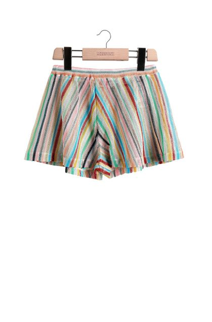 MISSONI KIDS Shorts Azure Woman - Back