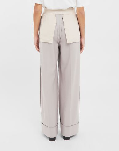 TROUSERS Reversed tailored trousers  Beige
