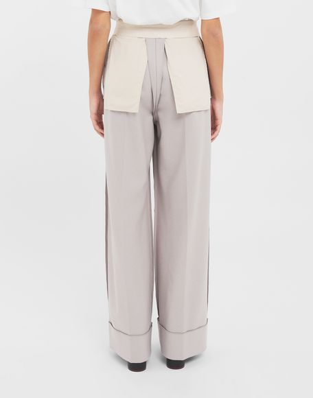 MM6 MAISON MARGIELA Reversed tailored trousers Trousers Woman e