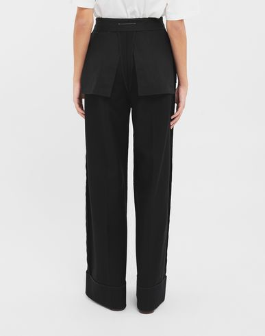 PANTS Reversed tailored trousers  Black
