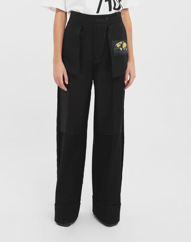 TROUSERS Reversed tailored trousers  Black