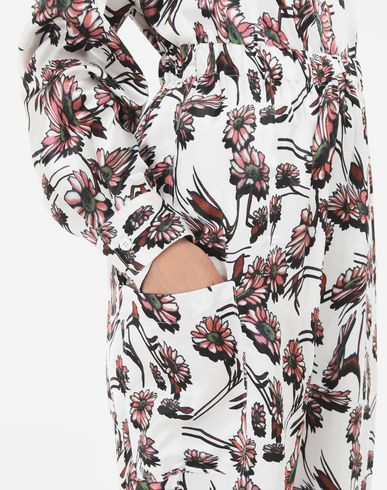 TROUSERS Flower trousers White