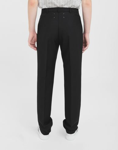 TROUSERS British mohair pants Black