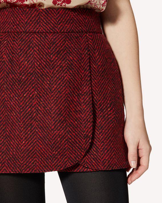 REDValentino Macro wool chevron shorts