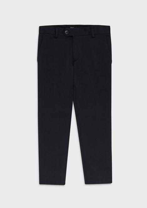 Jersey chino trousers
