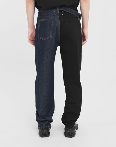 TROUSERS Spliced jeans Blue