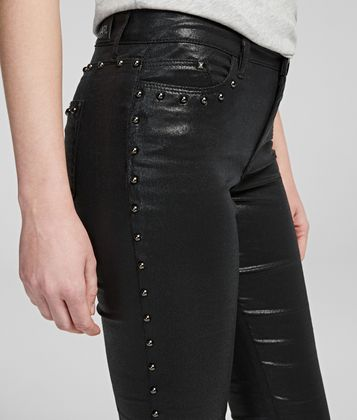 KARL LAGERFELD KARL'S TREASURE STUDDED JEANS