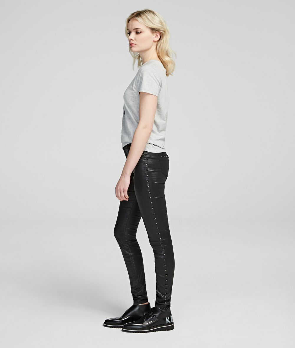 KARL LAGERFELD Karl's Treasure Studded Jeans Pants Woman d