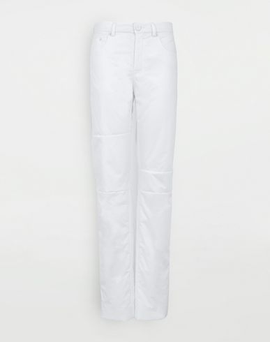 TROUSERS Padded cotton pants White